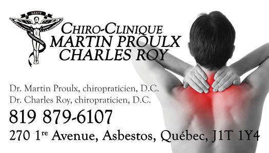 Chiro-Clinique Martin Proulx Et Charles Roy – Conception carte professionnelle