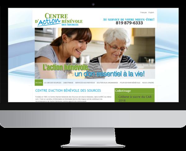 CAB des Sources – conception site Internet