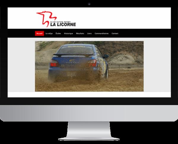 Club Autos Sport la Licorne – Conception site Internet