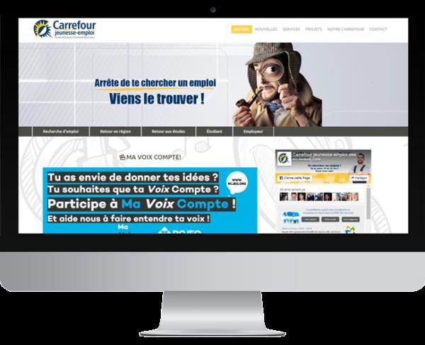 Carrefour jeunesse-emploi des comtés de Richmond & Drummond Bois Francs – Conception site Internet