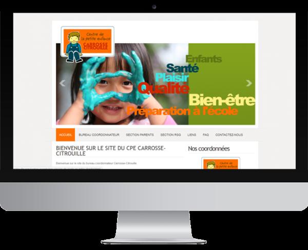 CPE Carrosse-Citrouille – Conception site Internet