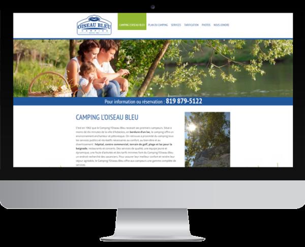 Camping Oiseau Bleu – Conception site Internet