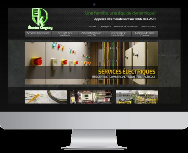 Électro Kingsey – Conception site Internet