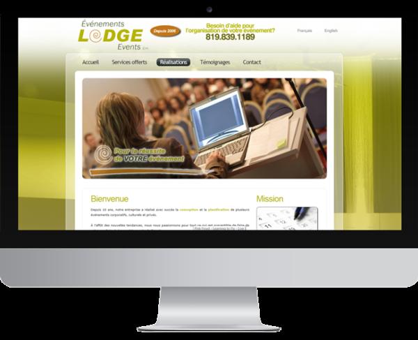 Événements Lodge – Conception site Internet