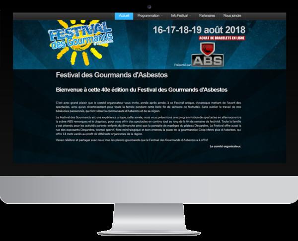 Festival des Gourmands – Conception site Internet