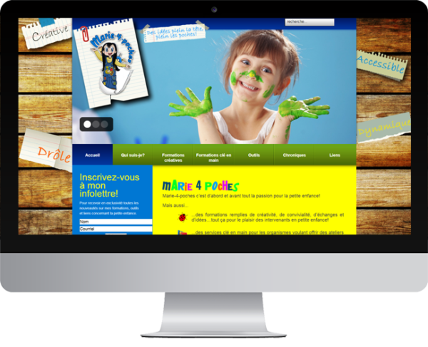 Marie4poches.ca – Conception site Internet