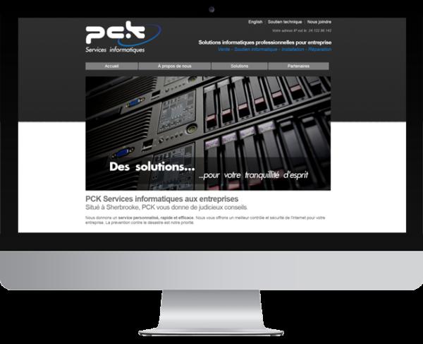 PCK Services informatique – Conception site Internet