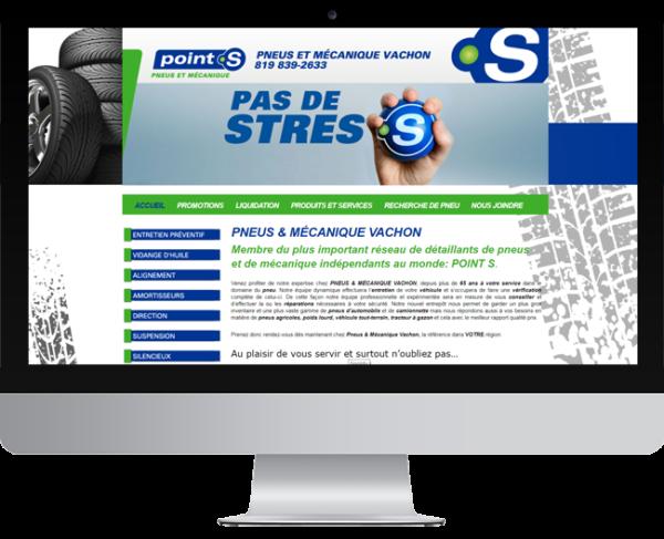 Pneus Vachon – Conception site Internet