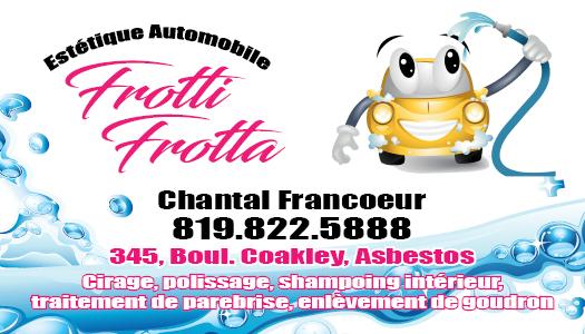 Frotti-Frotta – Conception carte d'affaire