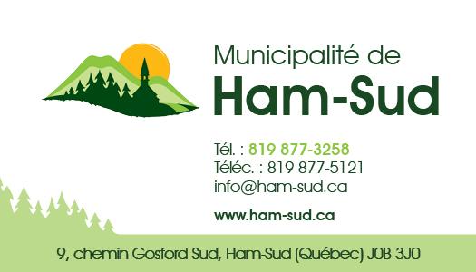 Municipalité de Ham-Sud – Conception carte affaire
