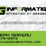 JG informatique – Conception carte affaire