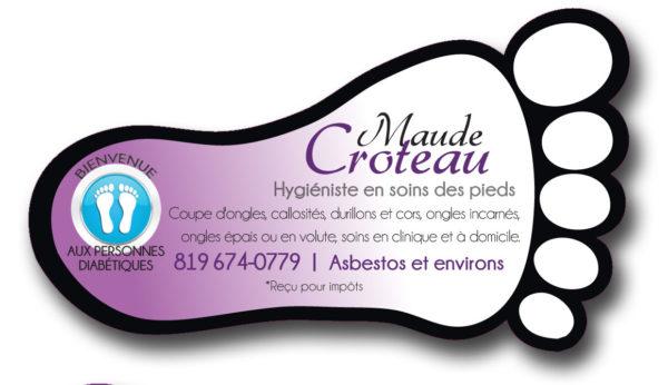 Maude Croteau – Conception carte affaire
