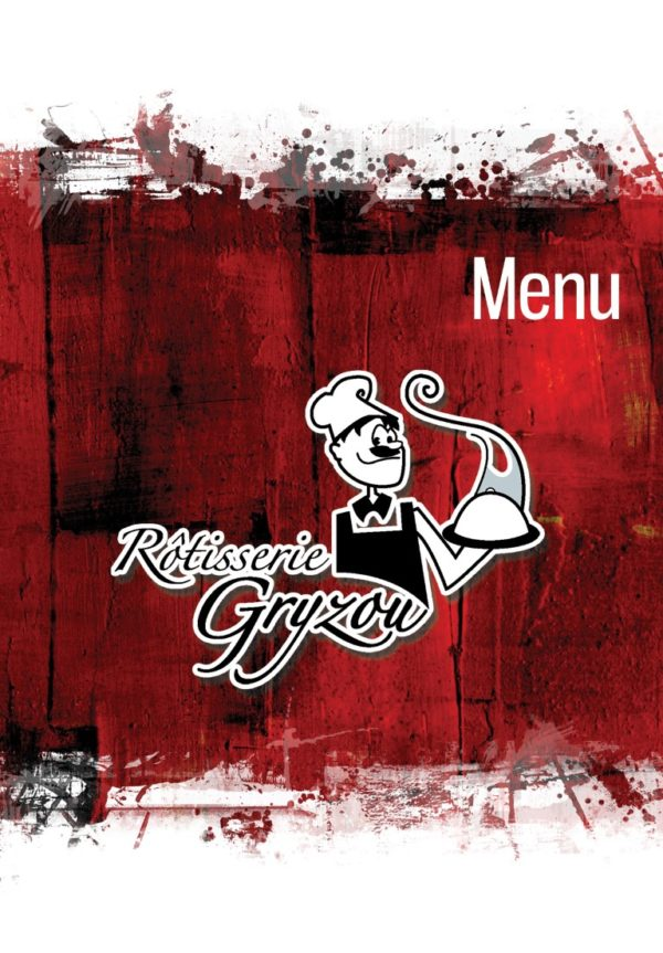Rotisserie Gryzou – Conception brochure (menu)