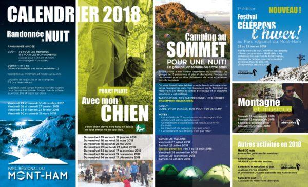 Parc régional du Mont-Ham – Conception dépliant, affiche, carton