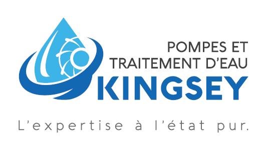 Pompes et traitement d'eau Kingsey – Conception carte affaire
