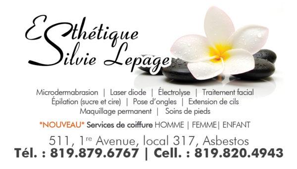Esthétique Silvie Lepage – Conception carte affaire