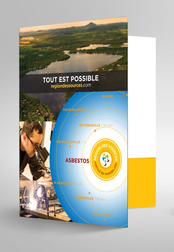 Table de diversification – Région des Sources – Conception pochette corporative