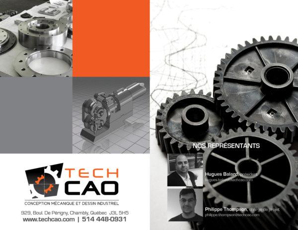 TechCAO – Conception feuillet promo