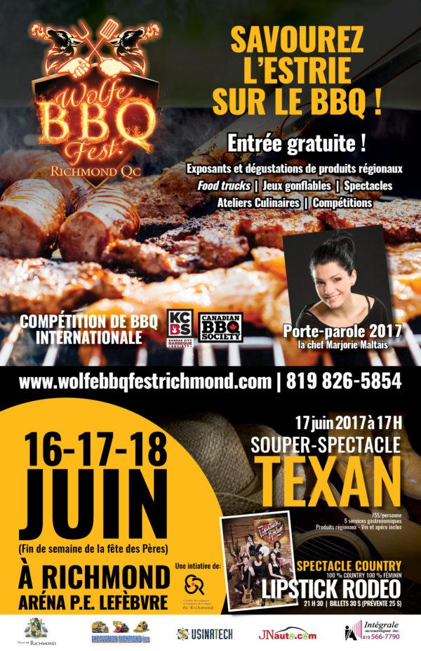 Wolfe BBQ Fest de Richmond – Conception affiche, feuillet