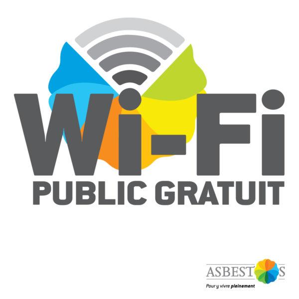 Ville d'Asbestos – Conception logo Wi-fi