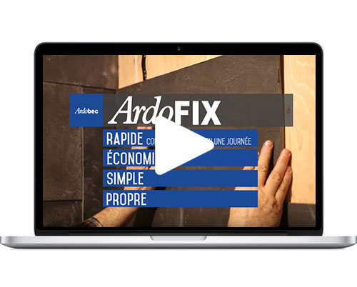 ARDOFIX – Système innovateur pour fixer vos tuiles d'ardoise aux murs