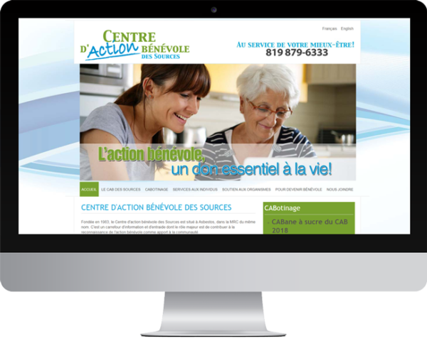 CAB des Sources – conception site Internet