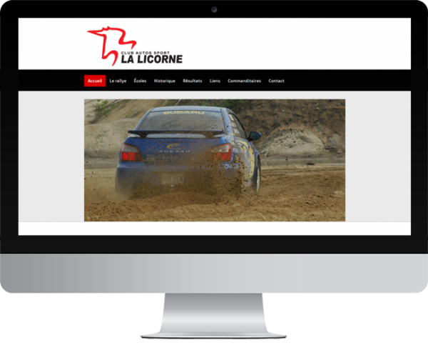 Club Autos Sport la Licorne – Conception site Internet