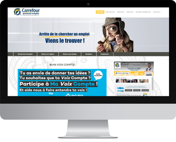 Carrefour jeunesse-emploi des comtés de Richmond & Drummond Bois Francs – Conception site Internet
