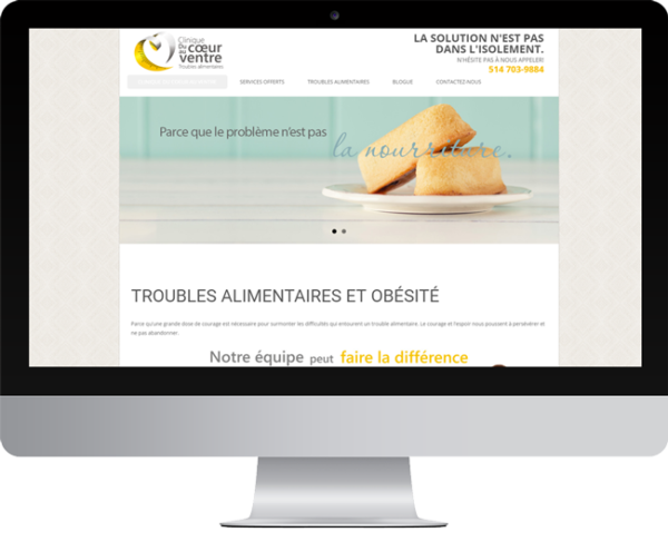 Clinique du coeur au ventre – Conception site Internet