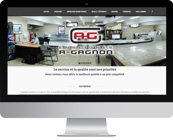 Enseignes A.Gagnon – Conception site Internet