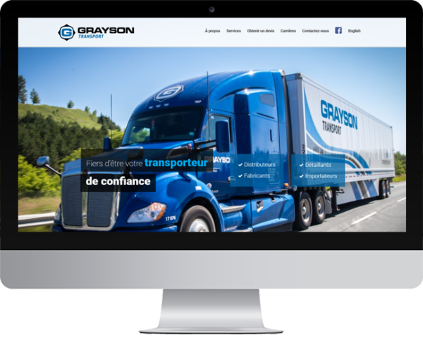 Transport Grayson – Conception site Internet