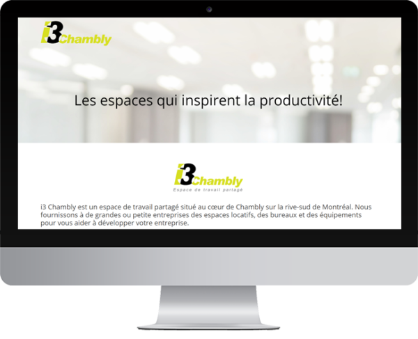 i3 Chambly – Conception site Internet