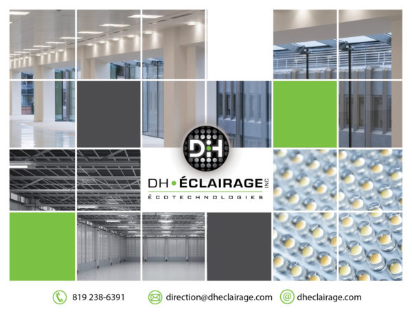 DH éclairage – conception de brochure