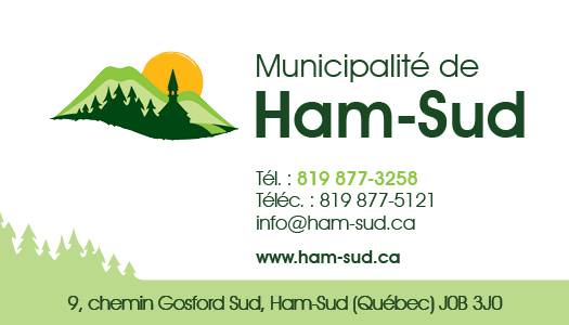 Municipalité de Ham-Sud – Conception carte affaire