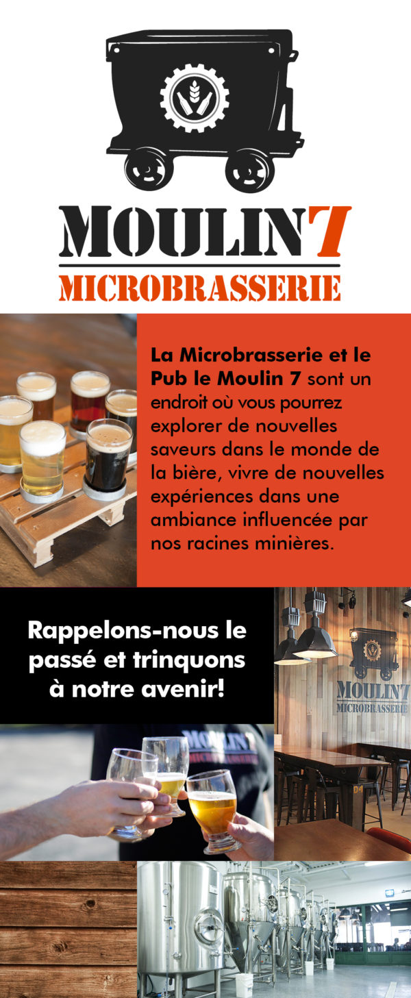Microbrasserie Moulin7 – Conception carton promotionnel