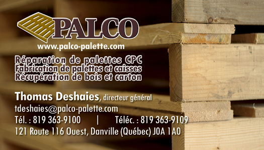 Palco – Conception carte affaire