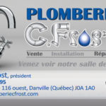 Plomberie CFrost – Conception carte affaire