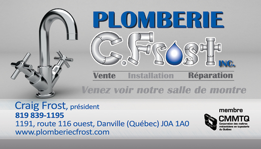 Plomberie CFrost – Conception carte affaire