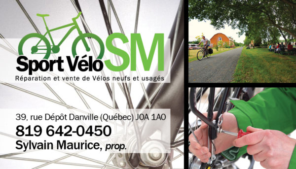 Sport Vélo SM – Conception carte affaire