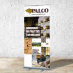 Palco – Conception bannière rétractable